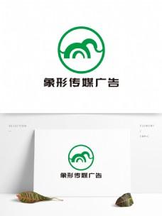 简约大象传媒广告LOGO设计