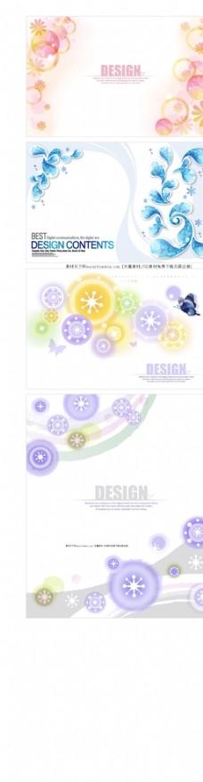 花卉装饰背景底图矢量素材