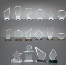 矢量图水晶奖杯