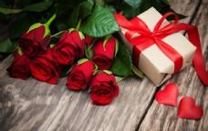 玫瑰花和礼物