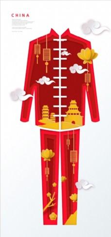 矢量汉服中国古典