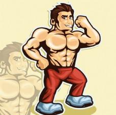 肌肉男身体