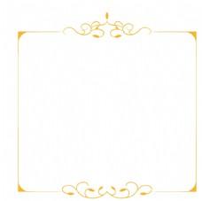 金色花纹边框
