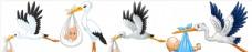 卡通婴儿送子鹤