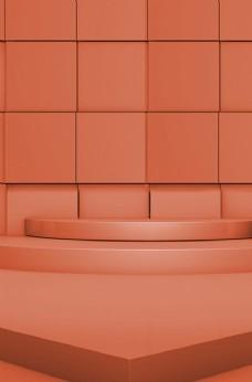 橘黄色电商主题背景
