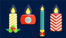 彩色 节日 蜡烛 节日蜡烛 花