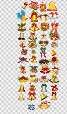 卡通圣诞铃铛装饰品金色可爱铃铛
