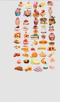 蛋糕甜点甜品手绘小蛋糕西点面包