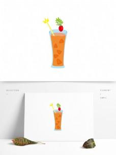 原创果汁橙汁夏季饮品