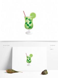 原创夏季青柠饮品饮料