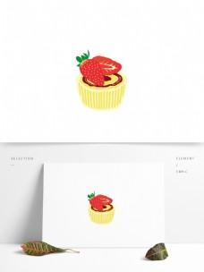原创草莓蛋糕甜点