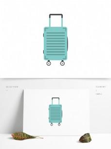 简约矢量轻便旅行行李箱拉杆箱设计元素