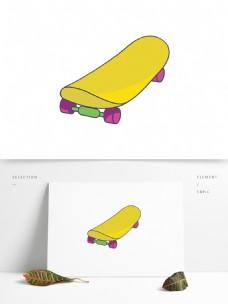 手绘矢量滑板鞋元素