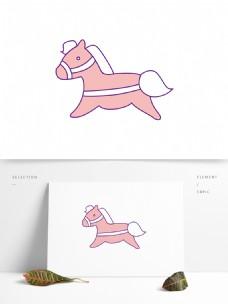 卡通小马手绘素材模板
