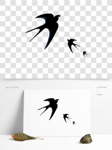 春天小燕子卡通透明素材
