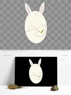 复古兔子背景素材