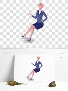 紫色衣服人物女子插画