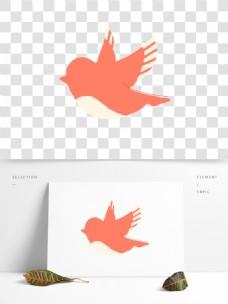 卡通简约小鸟装饰素材