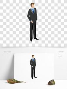 黑色衣服人物男子设计