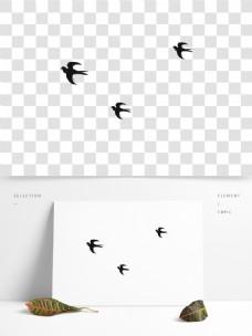 春季小燕子卡通透明素材