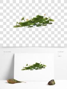 手绘水彩荷花设计元素