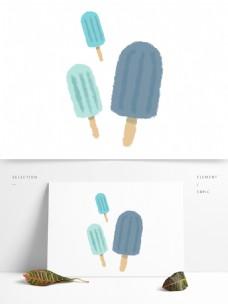 创意可爱原创手绘冰棍清凉夏日图案元素