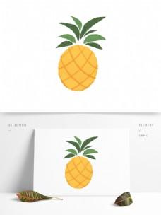 创意可爱原创手绘菠萝清凉夏日图案元素