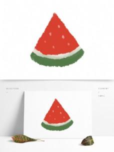 创意可爱原创手绘西瓜清凉夏日图案元素