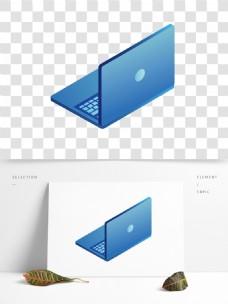 浅蓝色渐变电脑设计