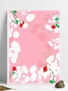 原创矢量玫瑰粉色背景边框相框