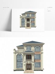 欧式三层别墅模型