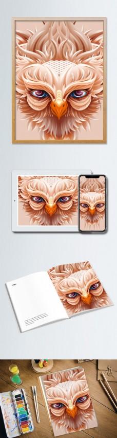 趋势立纸塑雕猫头鹰