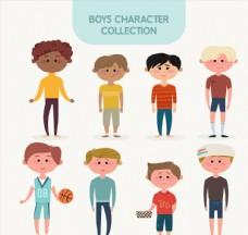 8款卡通男孩设计