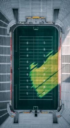 鸟瞰 球场 俯视