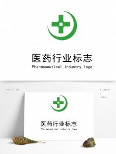 简约圆形医药logo