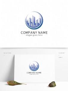 大气创意圆形城市房地产logo