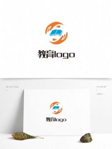 圆形简约大气创意教育行业logo标志设计