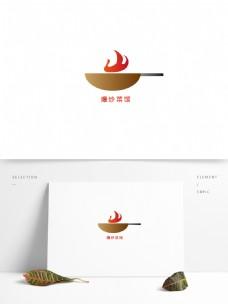 爆炒菜馆LOGO