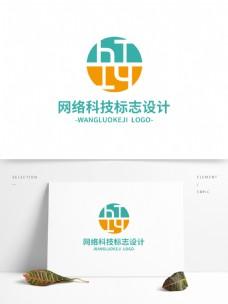 网络科技标志设计