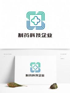简约大气制药科技企业LOGO设计