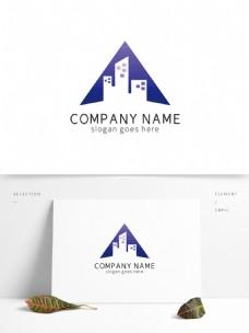 大气三角形房地产外形logo