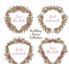 4款彩绘复古婚礼玫瑰花环