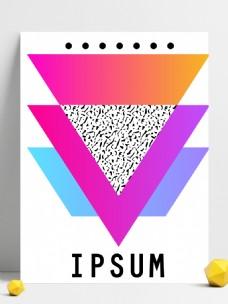 创意三角渐变拼接矢量背景
