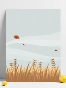 原创手绘芒种节气麦芒大自然简约清新背景