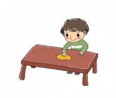 儿童卡通系列  擦桌子