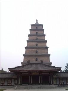 西安大雁塔正面图