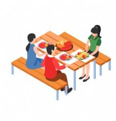 美食 餐桌 人物 烧烤