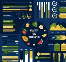 彩色健康食物信息图