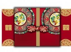 中国风舞台喷绘设计矢量图