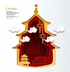 中国矢量建筑